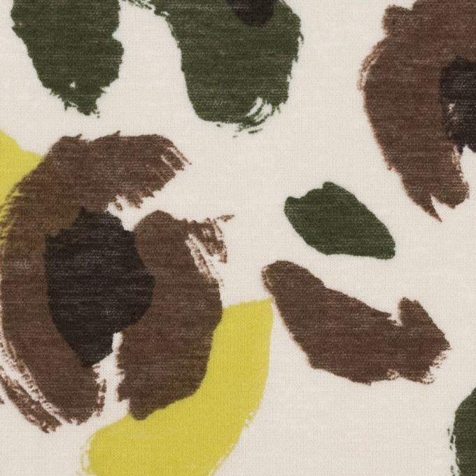 コットン×幾何学模様(イエロー&カーキグリーン)×天竺ニット_全2色 イメージ1