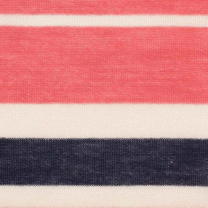 コットン&モダール×ボーダー(スカーレット&ネイビー)×天竺ニット_全2色 イメージ1
