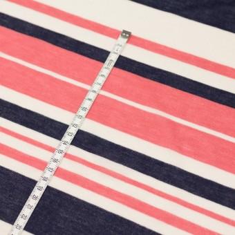 コットン&モダール×ボーダー(スカーレット&ネイビー)×天竺ニット_全2色 サムネイル6