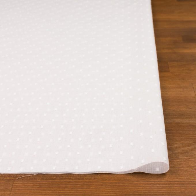 コットン×ドット(ホワイト)×ボイルカットジャガード_全6色 イメージ3