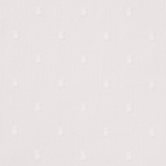 コットン×ドット(ホワイト)×ボイルカットジャガード_全6色 イメージ1