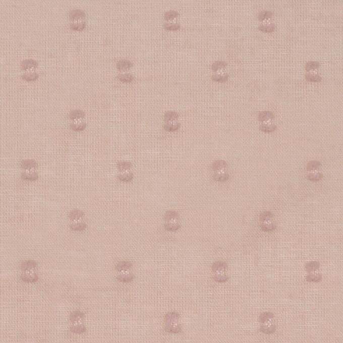 コットン×ドット(スモークピンク)×ボイルカットジャガード_全6色 イメージ1