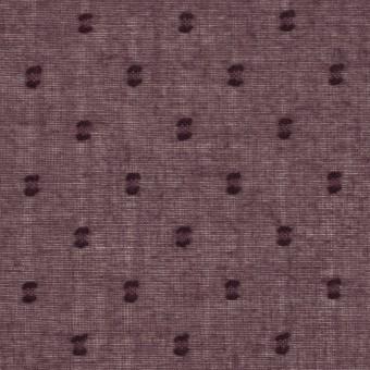 コットン×ドット(プラム)×ボイルカットジャガード_全6色 サムネイル1