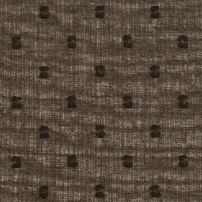 コットン×ドット(カーキブラウン)×ボイルカットジャガード_全6色 イメージ1