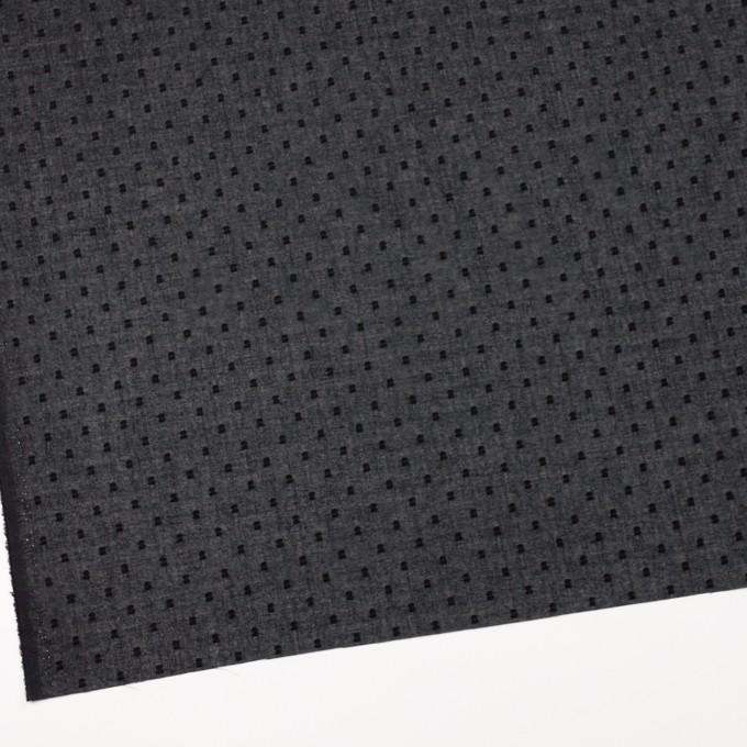 コットン×ドット(ブラック)×ボイルカットジャガード_全6色 イメージ2