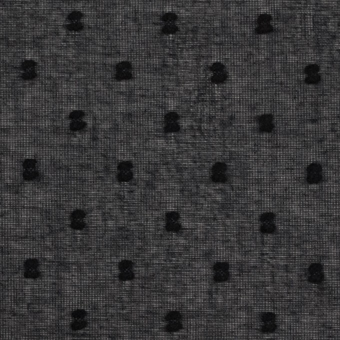 コットン×ドット(ブラック)×ボイルカットジャガード_全6色 イメージ1