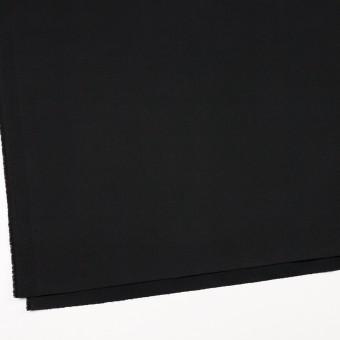 コットン&ポリウレタン×無地(ブラック)×サテンストレッチ_イタリア製 サムネイル2