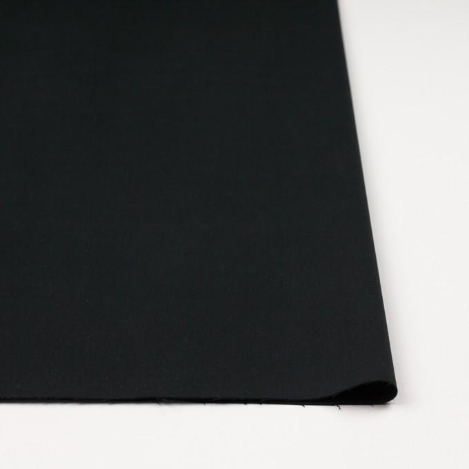 コットン&ポリウレタン×無地(ブラック)×サテンストレッチ_イタリア製 イメージ3