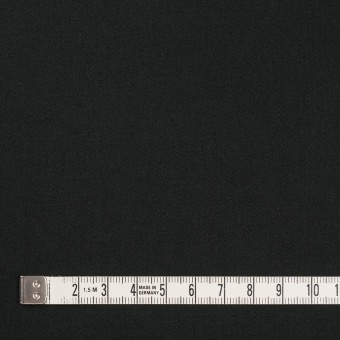 コットン&ポリウレタン×無地(ブラック)×サテンストレッチ_イタリア製 サムネイル4