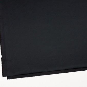 レーヨン&ポリエステル×無地(ブラック)×サテン_イタリア製 サムネイル2