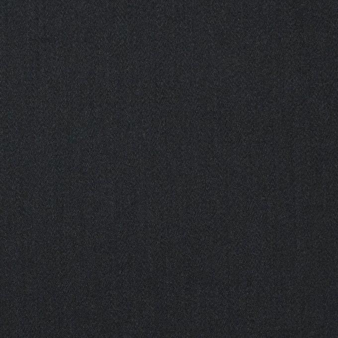レーヨン&ポリエステル×無地(ブラック)×サテン_イタリア製 イメージ1