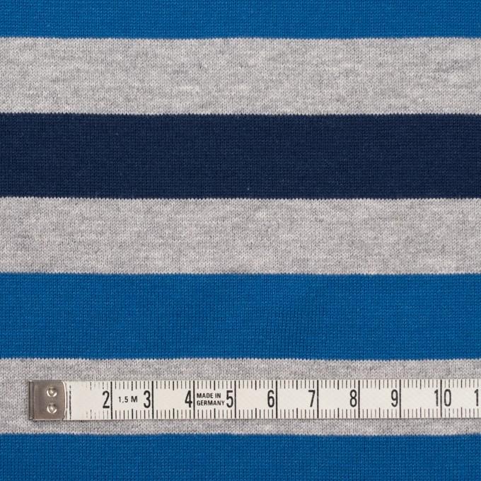 コットン×ボーダー(ブルー、グレー&ネイビー)×天竺ニット_全3色_パネル イメージ4