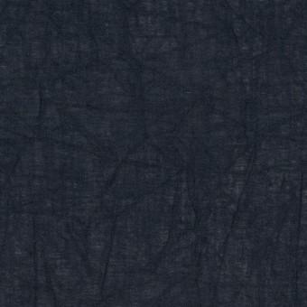 コットン×無地(ダークネイビー)×ボイルワッシャー_全8色 サムネイル1