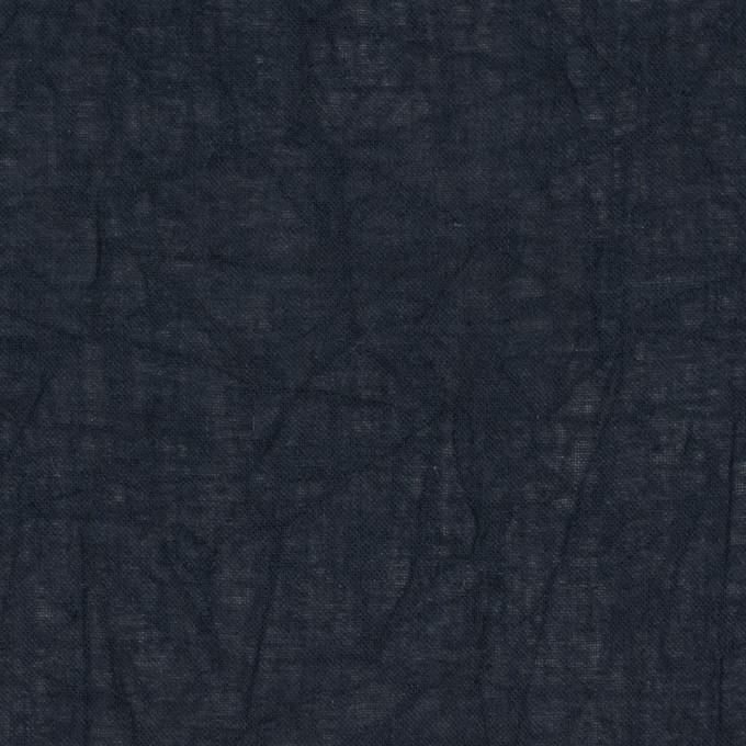 コットン×無地(ダークネイビー)×ボイルワッシャー_全8色 イメージ1