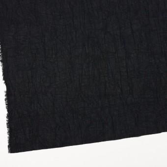 コットン×無地(ブラック)×ボイルワッシャー_全8色 サムネイル2