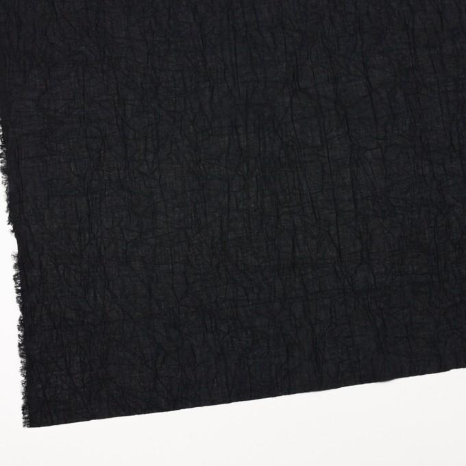 コットン×無地(ブラック)×ボイルワッシャー_全8色 イメージ2
