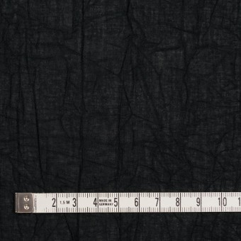 コットン×無地(ブラック)×ボイルワッシャー_全8色 サムネイル4