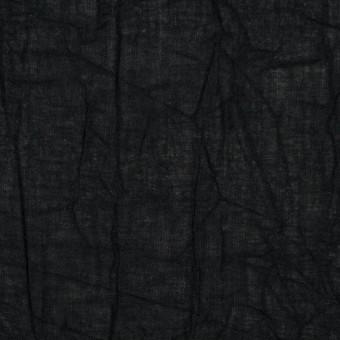 コットン×無地(ブラック)×ボイルワッシャー_全8色 サムネイル1