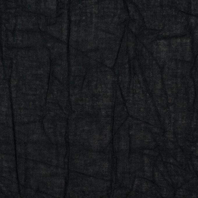 コットン×無地(ブラック)×ボイルワッシャー_全8色 イメージ1