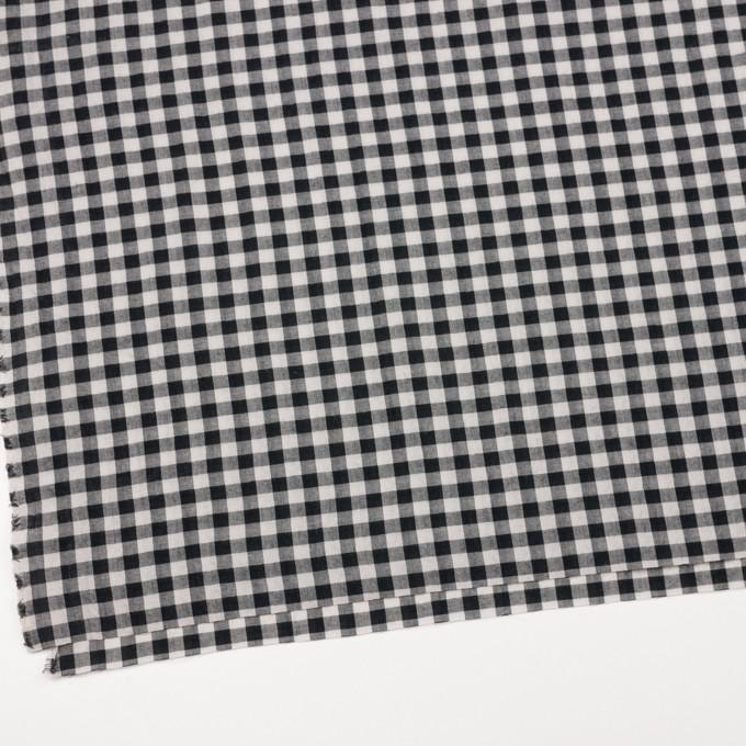 コットン×チェック(アイボリー&ブラック)×サッカー イメージ2