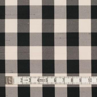 ポリエステル×チェック(キナリ&ブラック)×形状記憶シャンタン サムネイル4