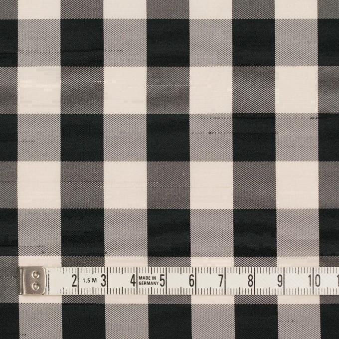 ポリエステル×チェック(キナリ&ブラック)×形状記憶シャンタン イメージ4