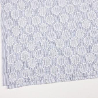 コットン×サークル(ブルー)×ローンシャーリング刺繍_全2色 サムネイル2