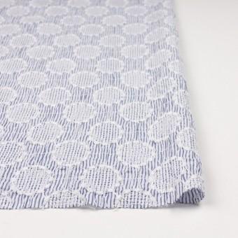 コットン×サークル(ブルー)×ローンシャーリング刺繍_全2色 サムネイル3