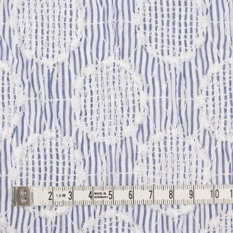 コットン×サークル(ブルー)×ローンシャーリング刺繍_全2色 サムネイル4