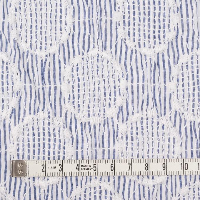 コットン×サークル(ブルー)×ローンシャーリング刺繍_全2色 イメージ4
