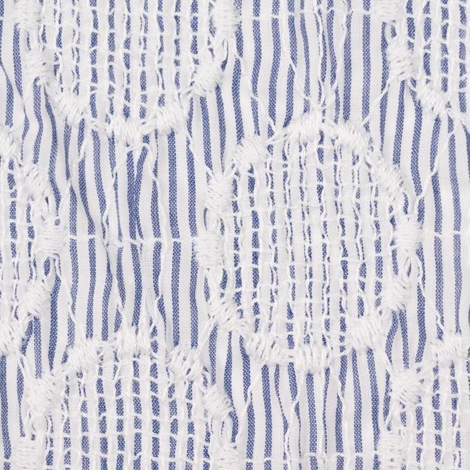 コットン×サークル(ブルー)×ローンシャーリング刺繍_全2色 イメージ1