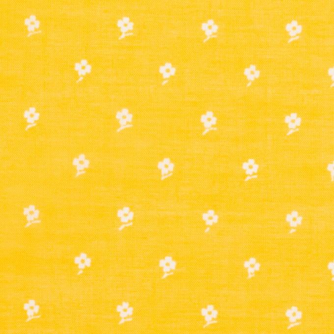 コットン×フラワー(イエロー)×ボイル_全2色 イメージ1