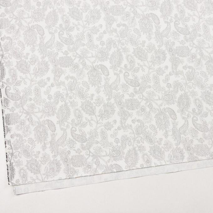 コットン&ポリエステル混×ペイズリー(チャコール)×チノクロス・ストレッチ イメージ2