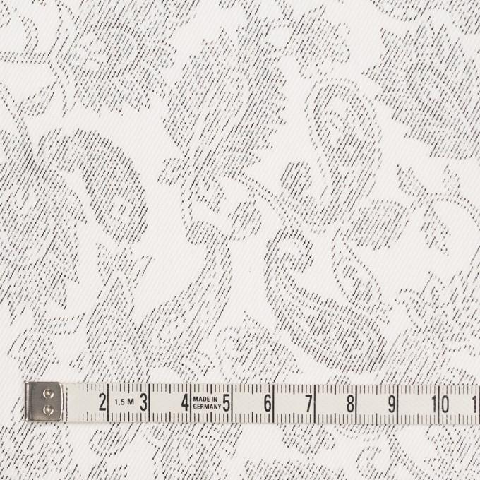 コットン&ポリエステル混×ペイズリー(チャコール)×チノクロス・ストレッチ イメージ4