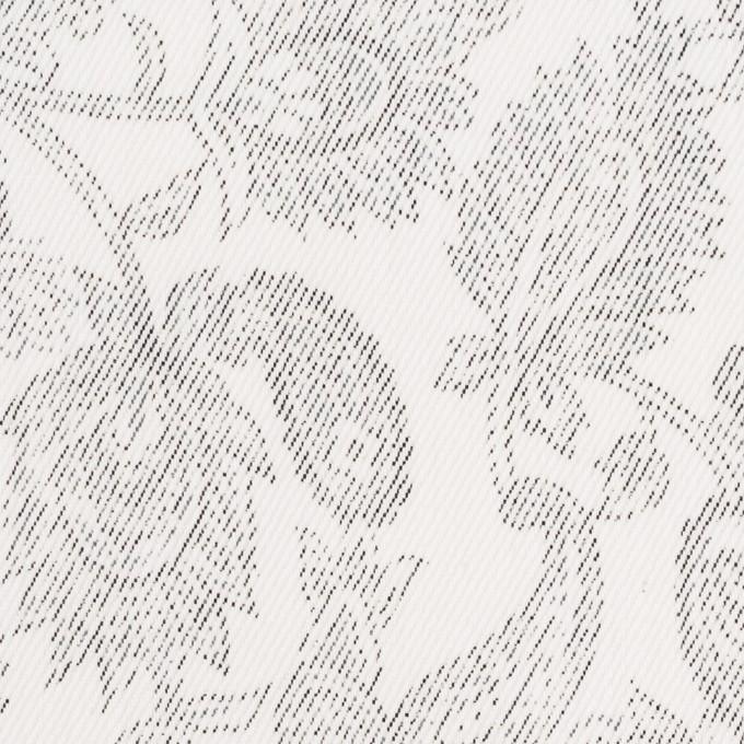 コットン&ポリエステル混×ペイズリー(チャコール)×チノクロス・ストレッチ イメージ1