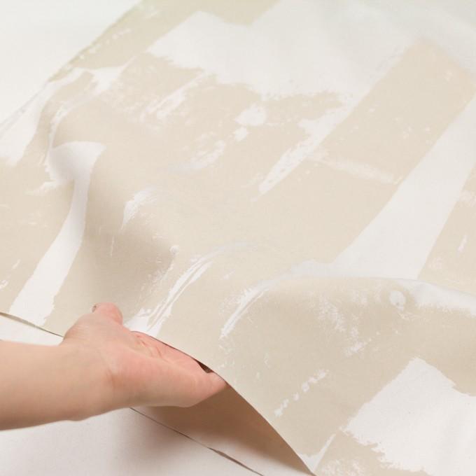 コットン&ポリウレタン×ペイント(キナリ)×ギャバジン・ストレッチ_イタリア製 イメージ5