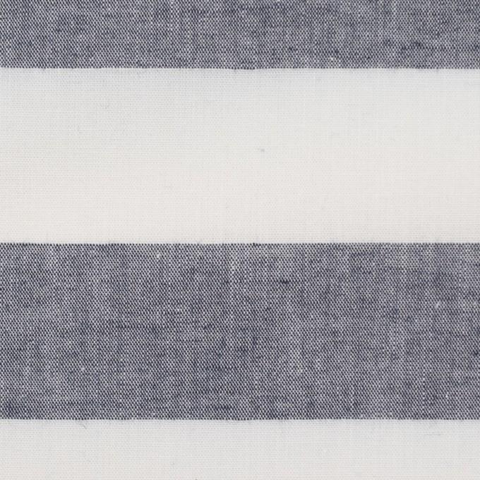 コットン×ボーダー(インディゴ)×シーチング イメージ1