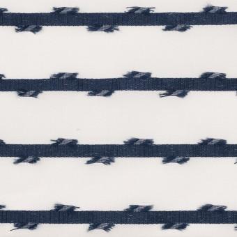 ナイロン&ポリエステル(ネイビー)×オーガンジージャガード サムネイル1