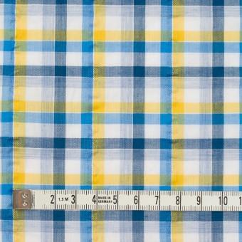 コットン×チェック(イエロー&ブルー)×サッカー_全3色 サムネイル4