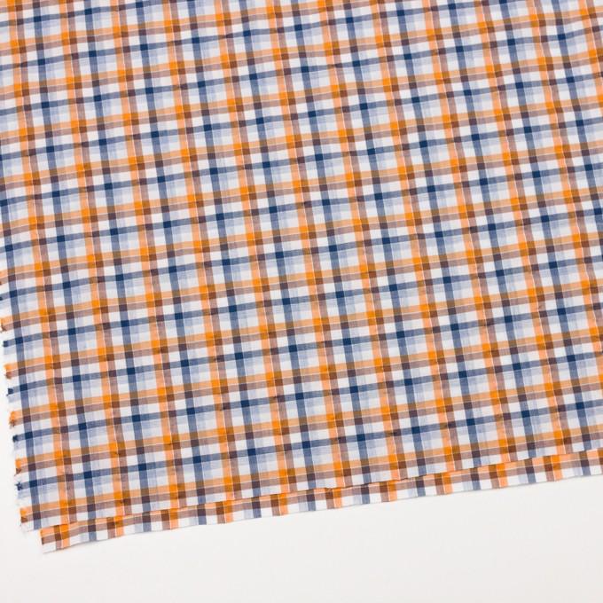 コットン×チェック(オレンジ&ブラウン)×サッカー_全3色 イメージ2