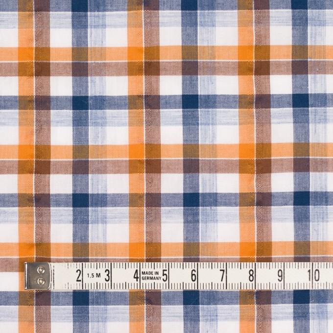 コットン×チェック(オレンジ&ブラウン)×サッカー_全3色 イメージ4
