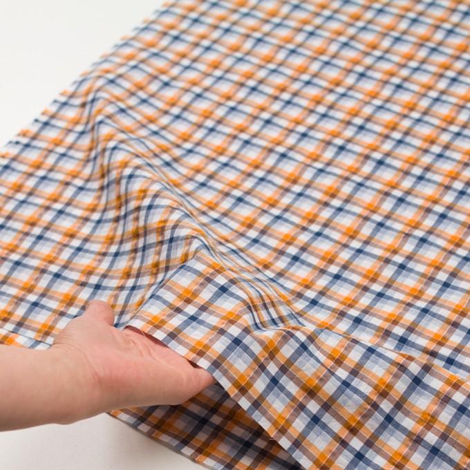 コットン×チェック(オレンジ&ブラウン)×サッカー_全3色 イメージ5