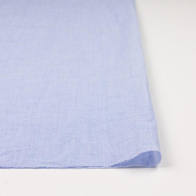 コットン&リネン混×ストライプ(ブルー)×ローンワッシャー イメージ3