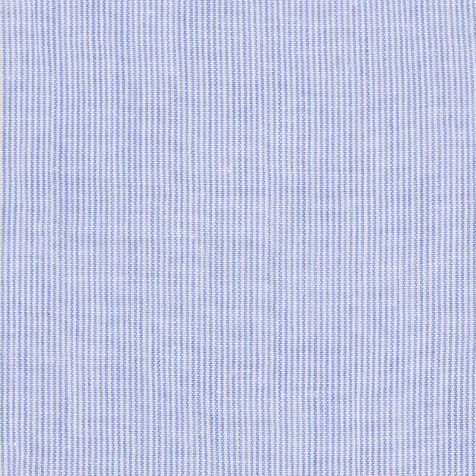 コットン&リネン混×ストライプ(ブルー)×ローンワッシャー イメージ1
