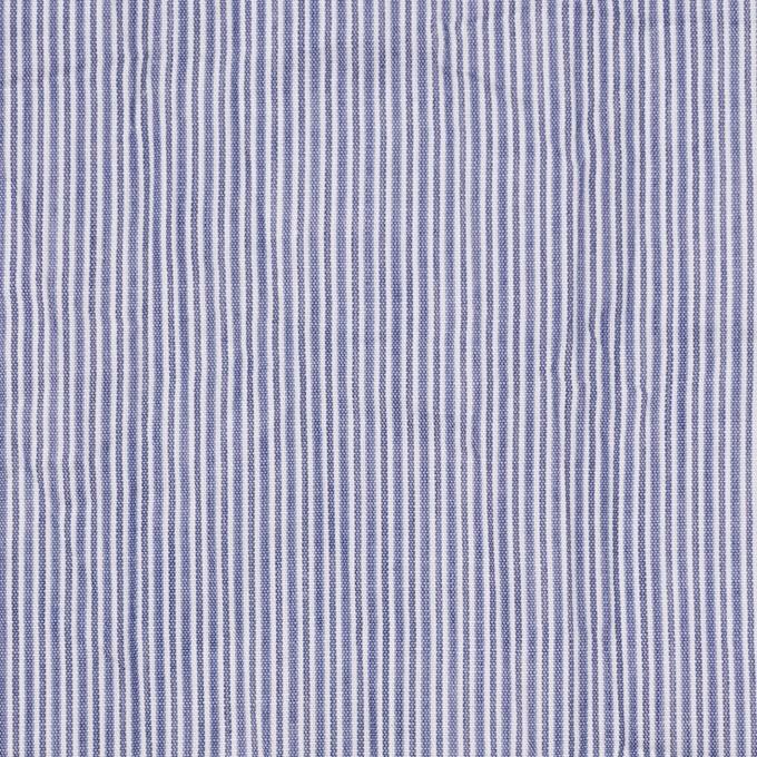コットン×ストライプ(ネイビー)×ローンワッシャー イメージ1