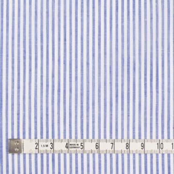 コットン&リネン×ストライプ(ブルー)×ローン サムネイル4