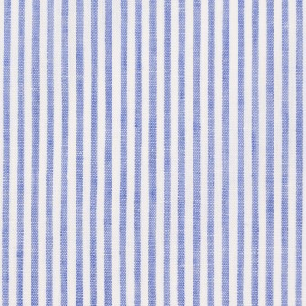 コットン&リネン×ストライプ(ブルー)×ローン サムネイル1