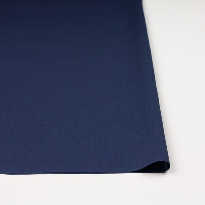 キュプラ&リネン混×無地(ネイビー)×ブロード_全2色 イメージ3