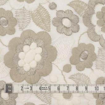 コットン×フラワー(ベージュゴールド)×ボイル刺繍 サムネイル4