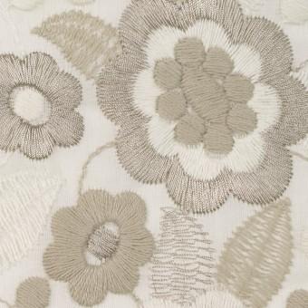 コットン×フラワー(ベージュゴールド)×ボイル刺繍 サムネイル1